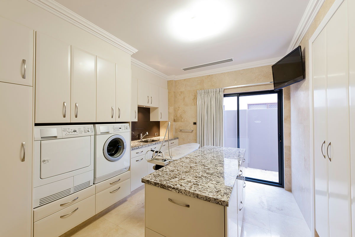 Custom Build South Perth Property showing well designed cupboard space.