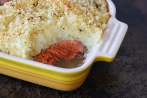 Herbed Potato Smothered Salmon
