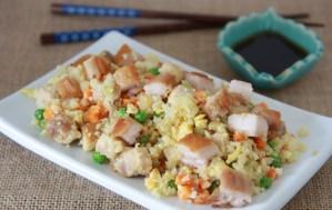 Crispy Pork Belly Fried Cauli Rice