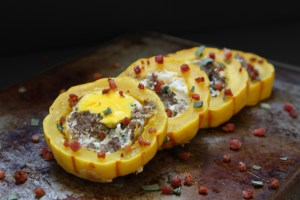 Breakfast Delicata Squash (Paleo, Whole30, Gluten Free)