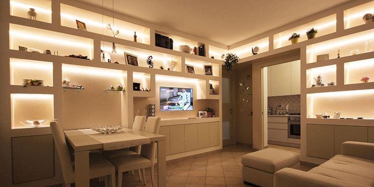 Come regale originalità alla casa! Librerie In Cartongesso Moderne Pareti Attrezzate