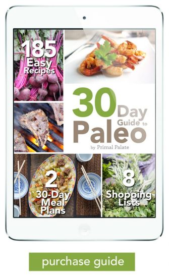 30 Day Guide to Paleo meal Plan - ipad low res purchase guide