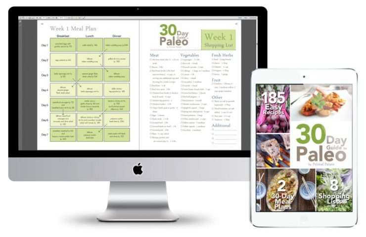 30 Day Paleo Meal Plan - Shopping List