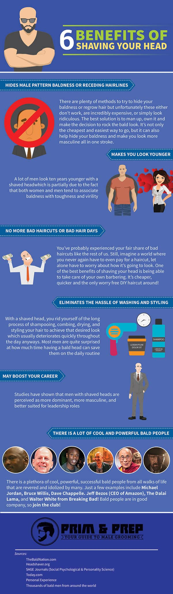 Benefits of Shaving Your Head (Infographic)