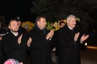 A fost aprinsa Raza Vestitoare a Nasterii Domnului la ieslea din Scuarul Mircea cel Batran