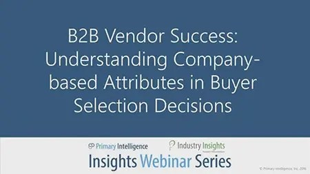 Webinar: B2B Vendor Success