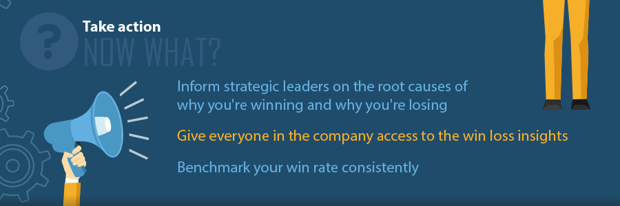 Take action on Win Loss Analysis results