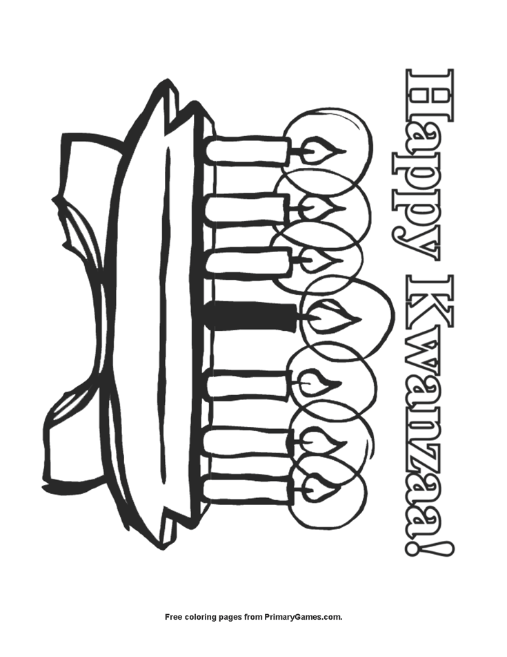 Happy Kwanzaa Coloring Page Free Printable Pdf From Primarygames