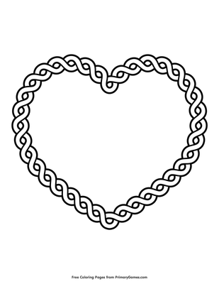 Celtic Heart Coloring Page Free Printable Pdf From Primarygames