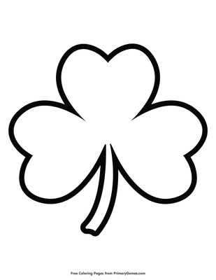 Simple Shamrock Outline Coloring Page Free Printable Pdf From Primarygames