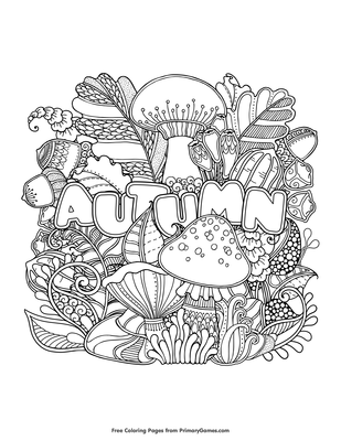 Autumn Coloring Page Free Printable Pdf From Primarygames