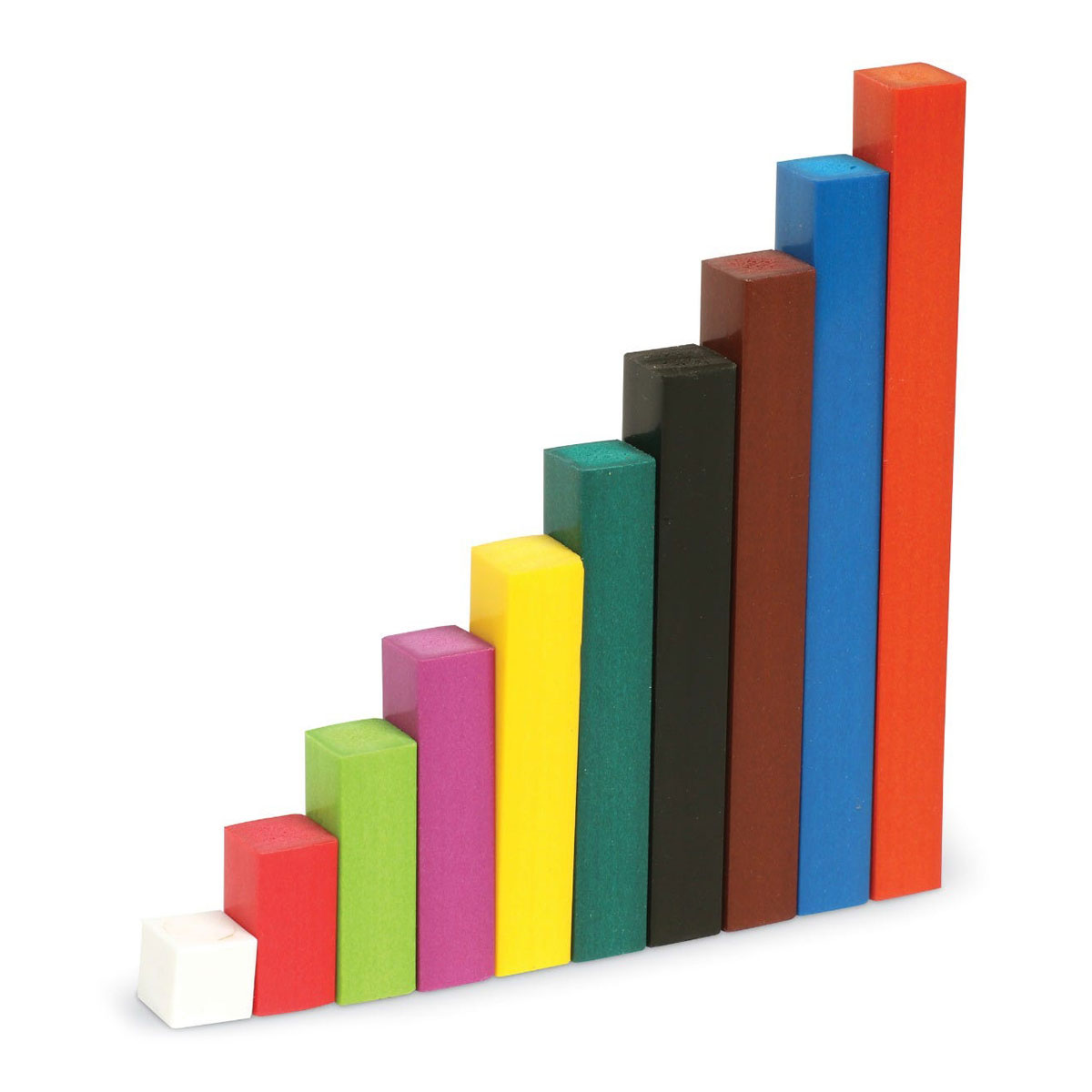 Wooden Cuisenaire Rods Introductory Set