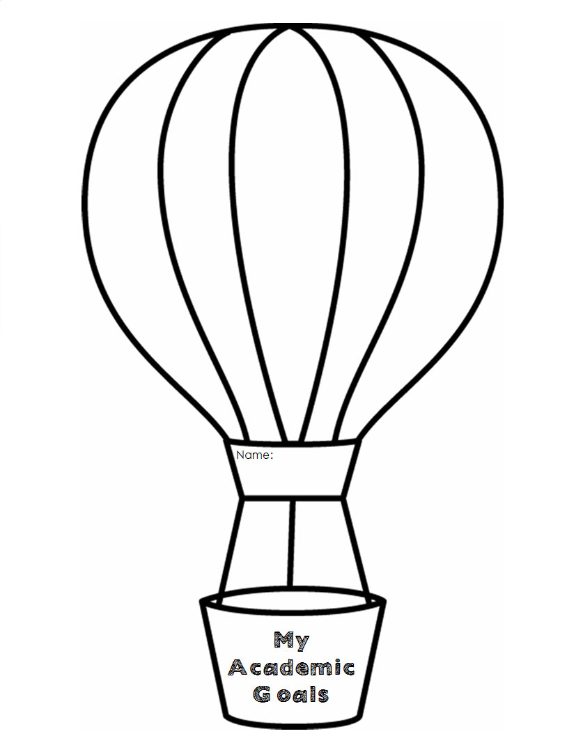 Free Coloring Pages Of Basket With Balloons