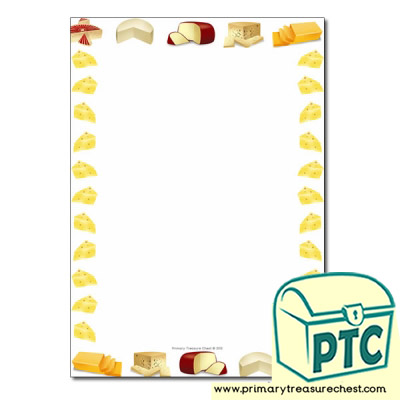 Cheese Themed Page BordersWriting Frames No Lines
