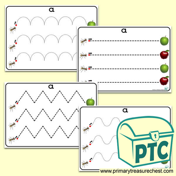 Aa Themed Pre Writing Patterns Primary Treasure Chest
