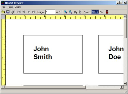 Volunteer Management System Printing Labels Reports