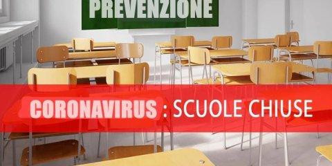 Coronavirus, scuole chiuse