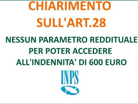 foto bonus 600 euro inps