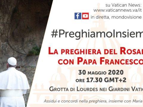 diretta preghiera dalla Grotta di Lourdes in Vaticano