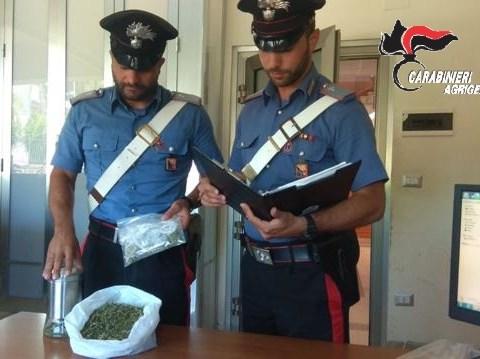CRONACA AGRIGENTO - Arrestato operaio 35enne nell'Agrigentino che arrotondava le proprie entrate con lo spaccio di marijuana