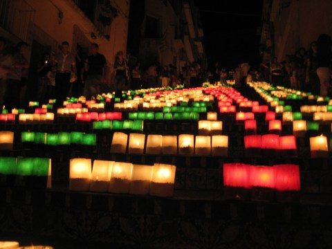 Caltagirone, scala illuminata