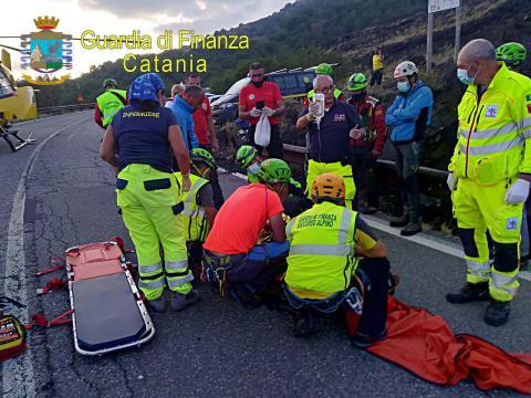 soccorso alpino sull'Etna