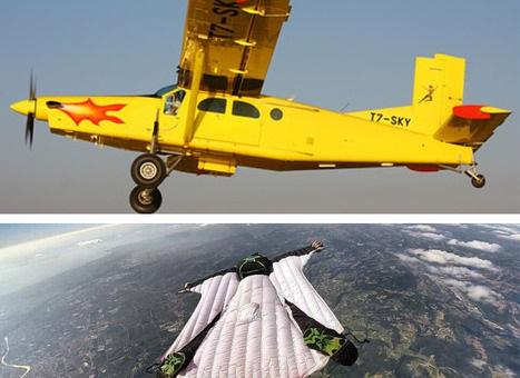 Si lancia con la tuta alare ma spezza ala velivolo che si schianta in aperta campagna prendendo fuoco, due morti