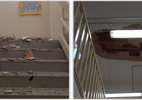 crollo scuola Sant'Orsola di Caltagirone