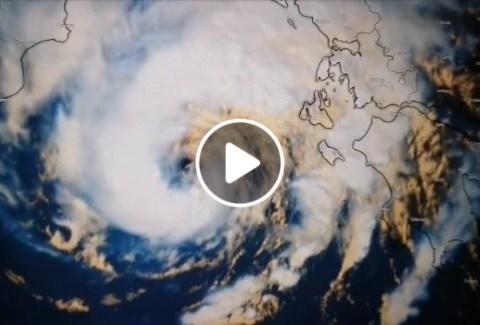 immagini video ciclone tropicale udine Sicilia temporali bufere di vento tempesta