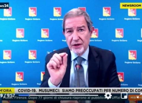 Musumeci, Siamo preoccupati per numero contagi, Sicilia in lockdown come la scorsa primavera