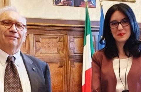 ex ministro Azzolina e ministro Bianchi