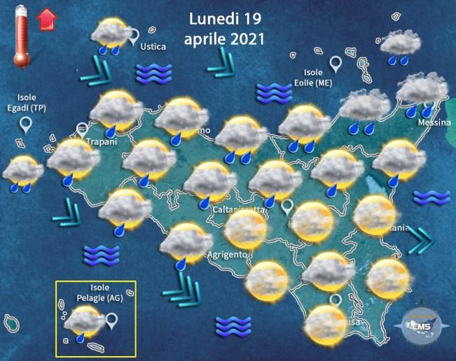 Allerta meteo Sicilia per lunedì 19 aprile ecco dove GRAFICO PREVISIONI