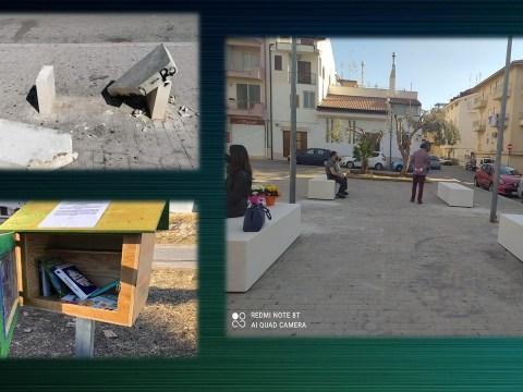 panchine piazza Senia