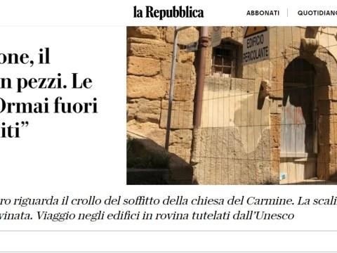 Caltagirone su La Repubblica