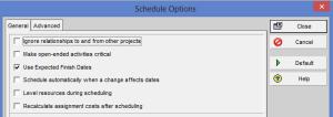 Primavera Scheduling