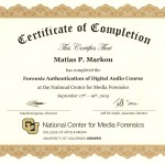 Matias Markou Authentication Certificate