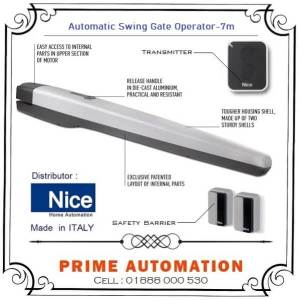 Automatic Swing Gate Operator NICE-TOONA-7M Made in ITALY