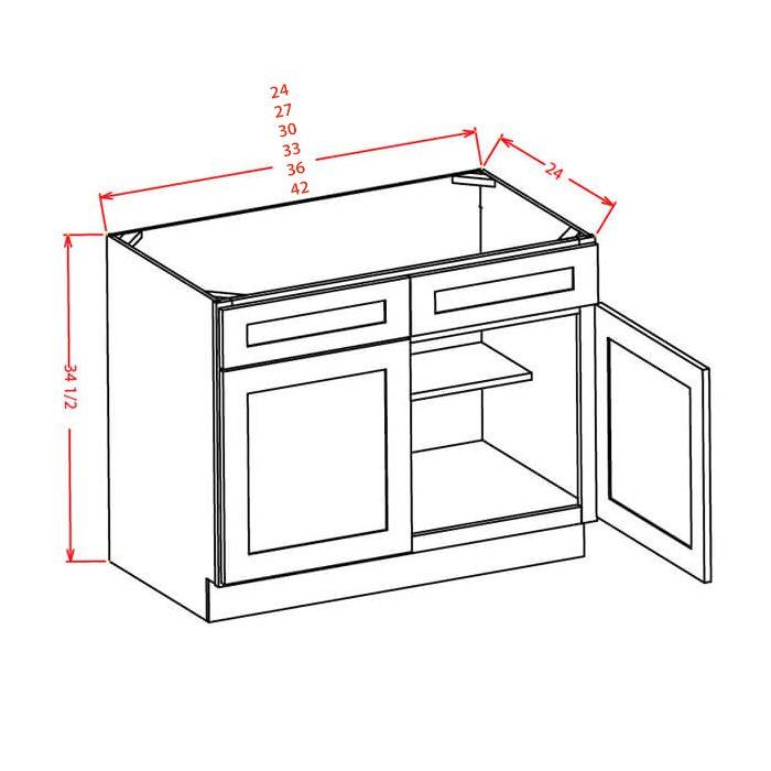 destin white shaker 27 sink base cabinet