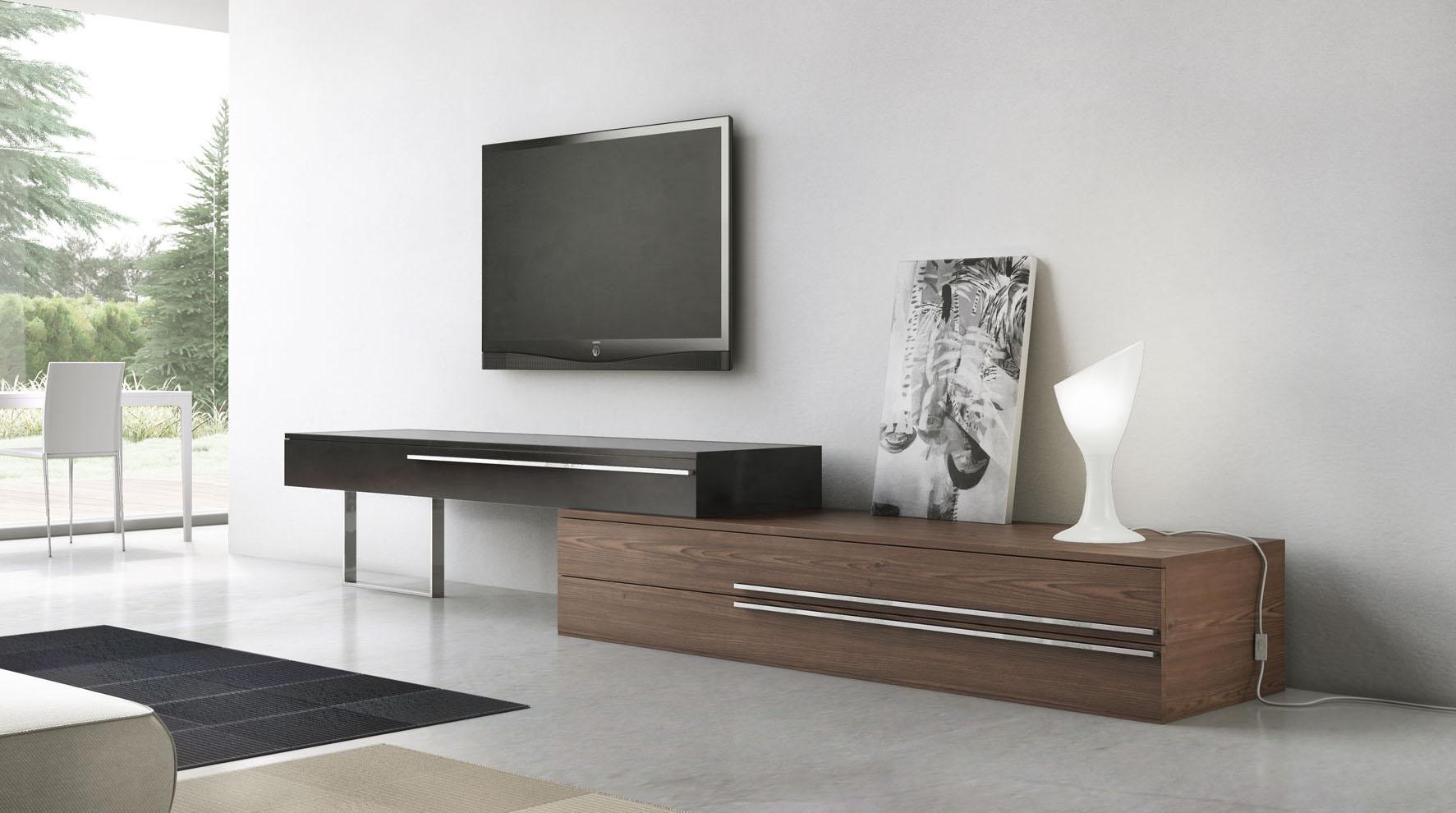 Unique Adjustable Lenght Three Drawer TV Entertainment