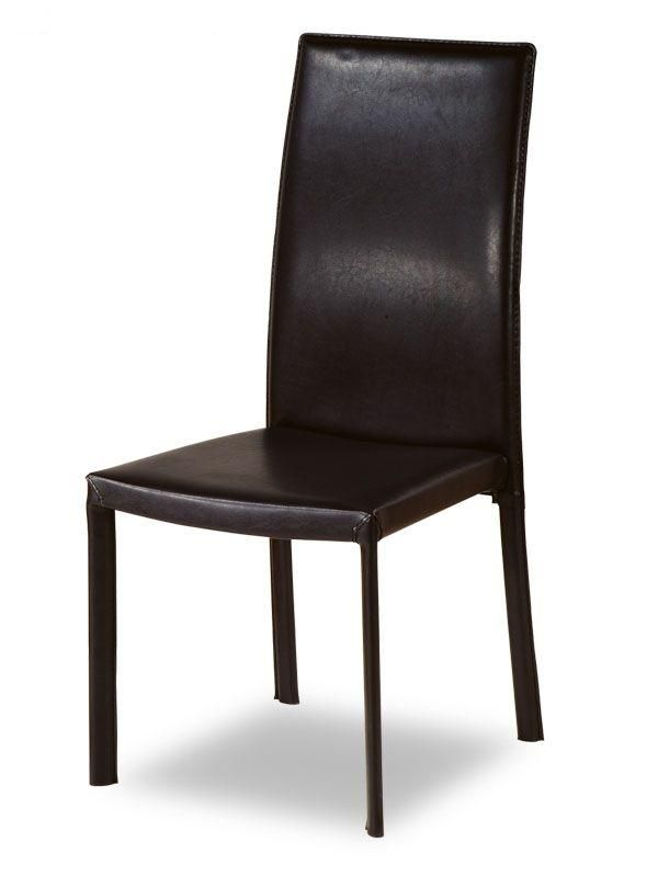 Contemporary Design Leather Kitchen Chair Shoulders Back Support