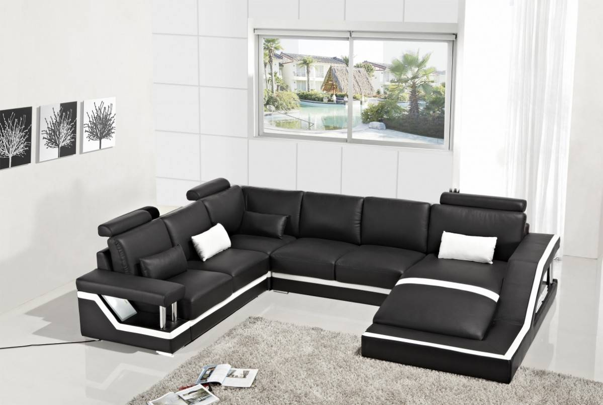 exclusive affordable leather sectional