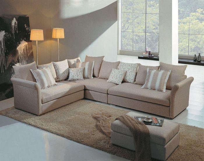 elegant micro suede fabric corner couch