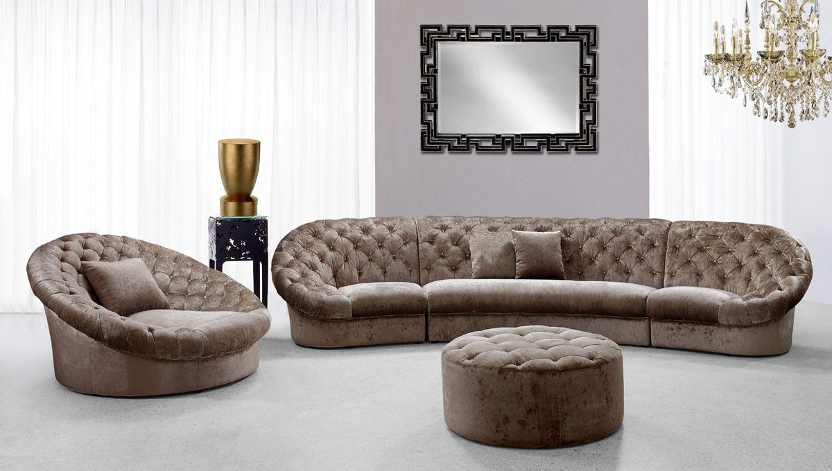 contemporary fabric sectional sofa set with matching ottoman and chair