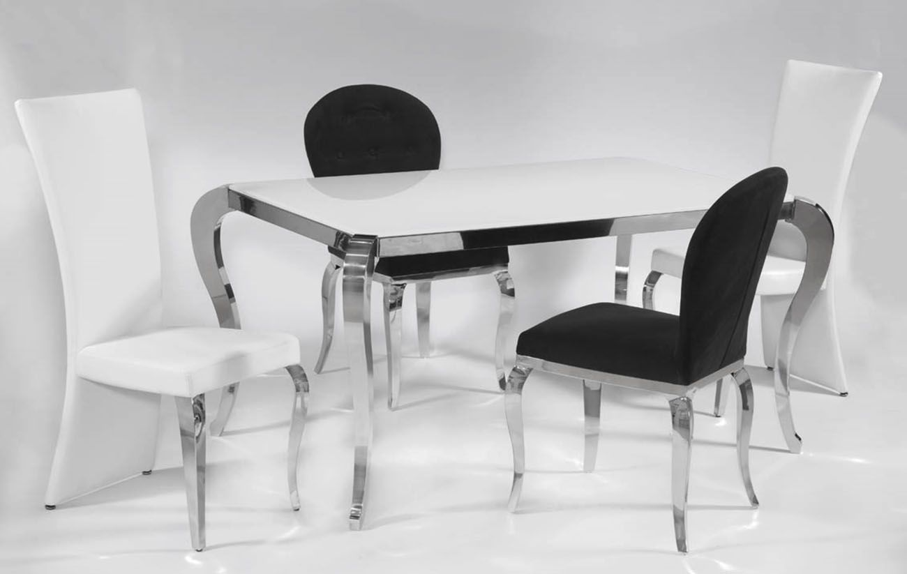 White Kitchen Extendable Table