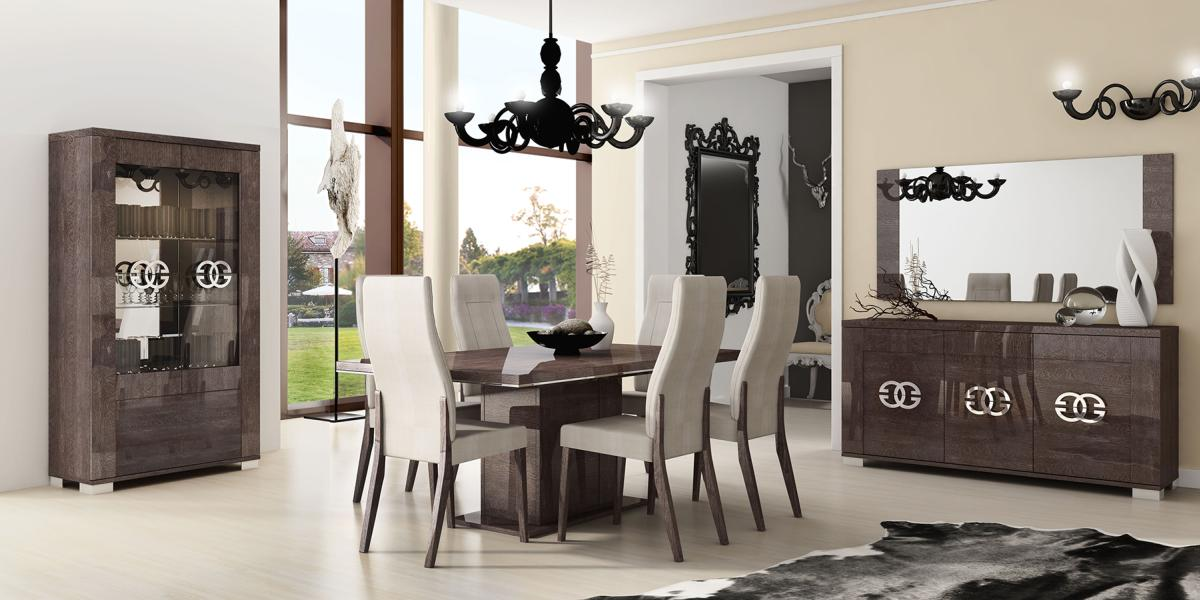 Made In Italy Extendable In Wood Microfiber Seats Modern Dining Set Austin Texas ESFPRES
