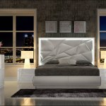 Made In Spain Leather Platform Bedroom Set With Upholstered Headboard Detroit Michigan Franco Spain Kiu