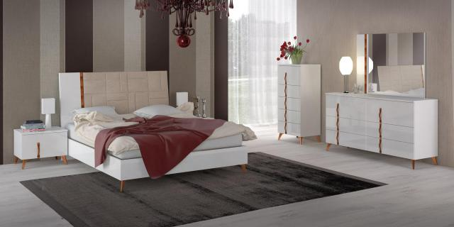 Made in Italy Leather Elite Modern Bedroom Sets with Extra ...