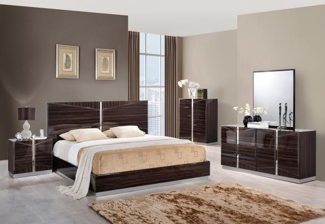 Rich Dark Brown Lacquer Bedroom Set San Antonio Texas Global Sienna