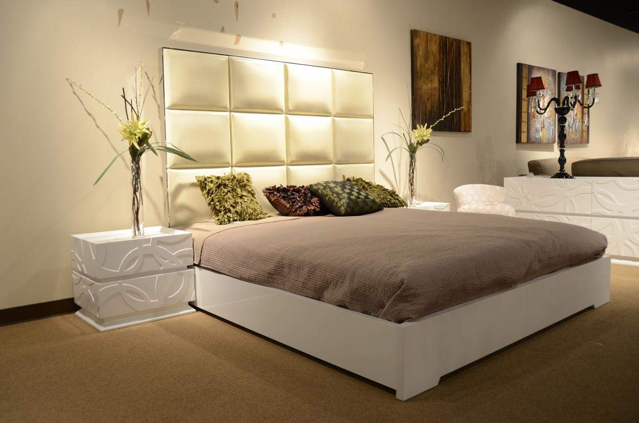 Leather Headboard Cal King Bed