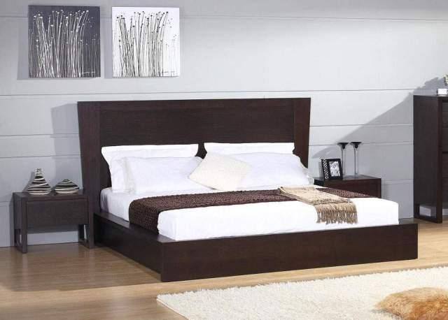 Unique Wood Platform And Headboard Bed Charlotte North Carolina ...